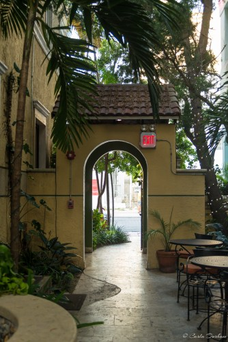 Entrance to the courtyard of Impala Hotel in South Beach Miami Beach, Florida - Photographer Carla Durham - 50 Cities and counting