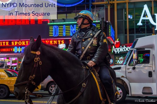 New York Police Department Mounted Unit in Times Square