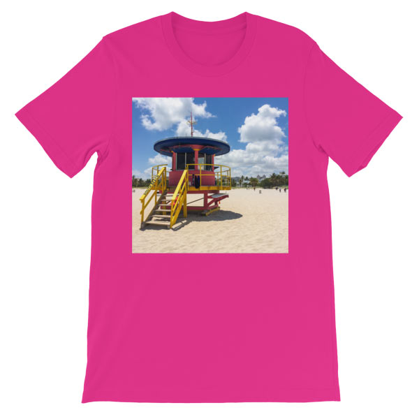 10th-street-lifeguard-tower-miami-t-shirt-pinkberry