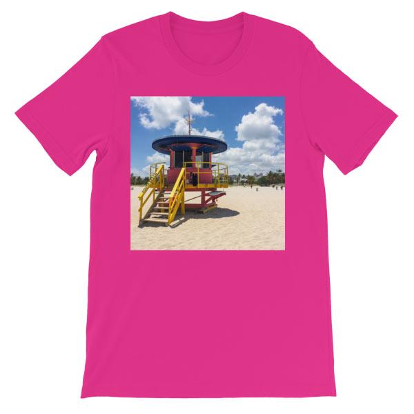 10th-street-lifeguard-tower-miami-t-shirt-pinkberry