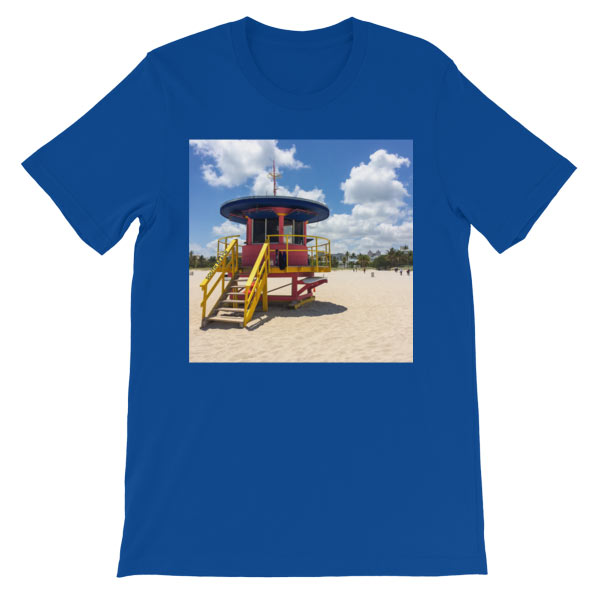 10th-street-lifeguard-tower-miami-t-shirt-royal-blue
