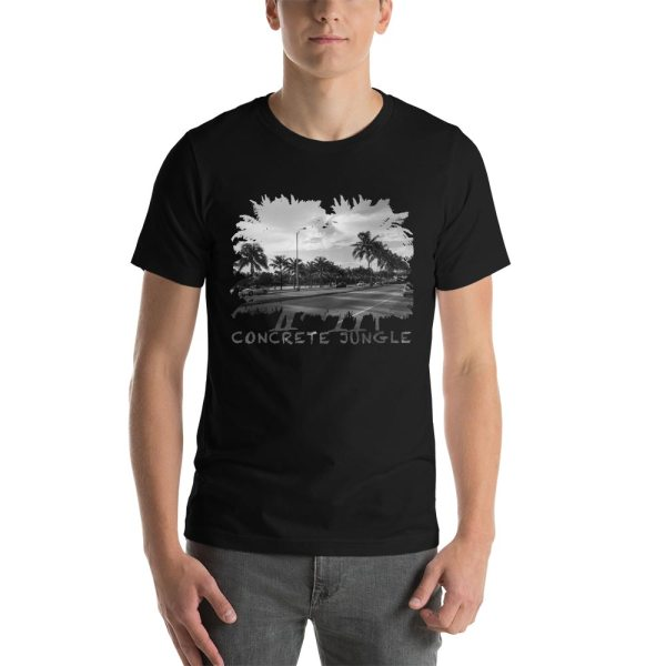 Concrete Jungle - Miami Beach, Florida - Carla Durham, travel photographer - Carla in the City - Carla Durham - short sleeve unisex t-shirt, black