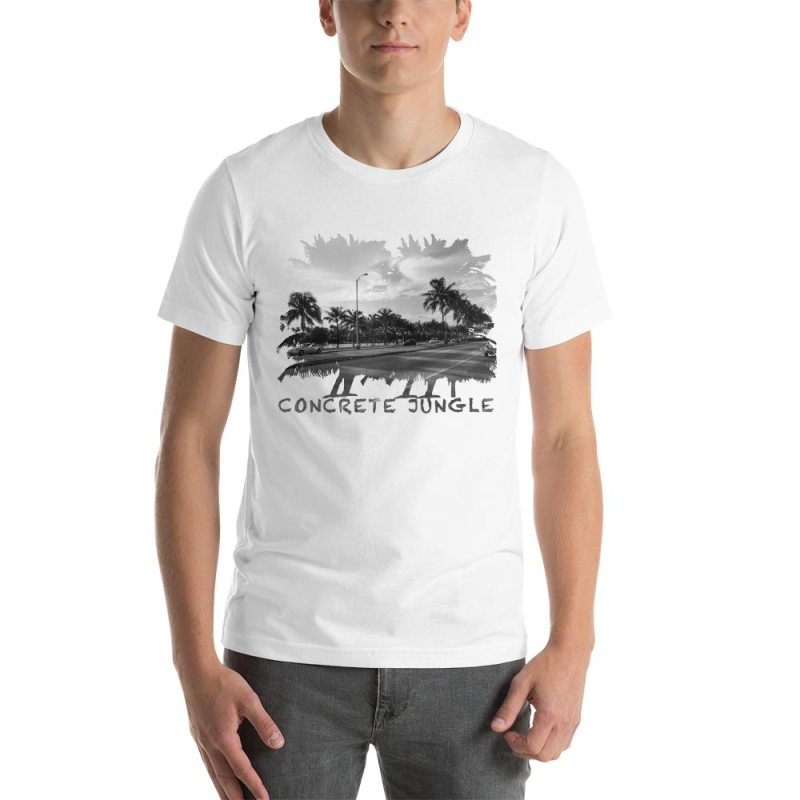 Concrete Jungle - Miami Beach, Florida - Carla Durham, travel photographer - Carla in the City - Carla Durham - short sleeve unisex t-shirt, white