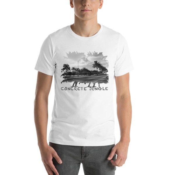 Concrete Jungle - Miami Beach, Florida - Carla Durham, travel photographer - Carla in the City - Carla Durham - short sleeve unisex t-shirt, white