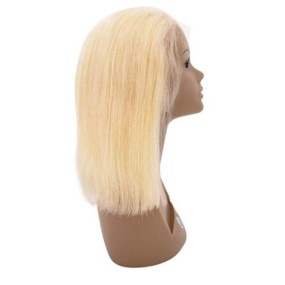 613 Blonde Straight Bob Wig (side)
