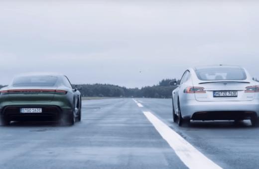 Drag race: Porsche Taycan vs. Tesla Model S