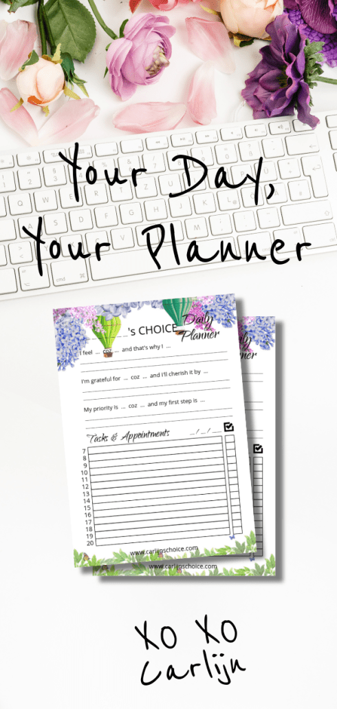 Carlijns Choice daily planner printable A5