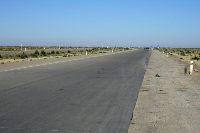 New highway in the desert landscape.