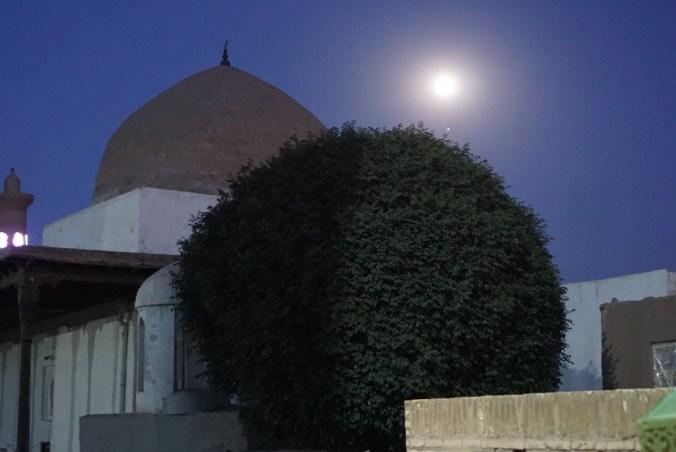 Full moon shining on Khiva.