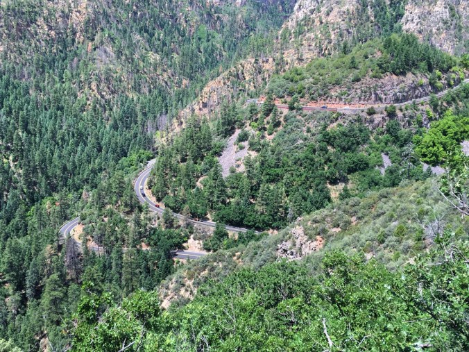 Stopped to admire the vie at Oak Creek Canyon scenic overlook. I just came up that road - very nice!