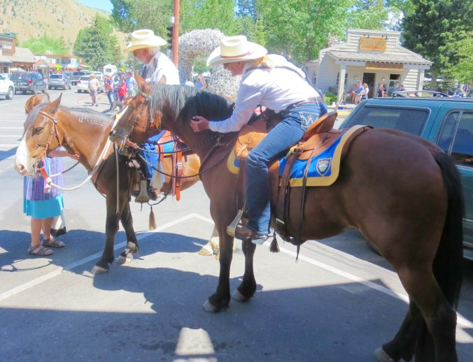 Riding police keeps the order in town and attracts attention from visitors.
