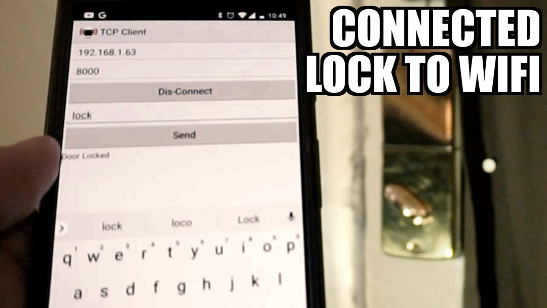 Connecting a Lock to Wifi with a microcontroller and Raspberry Pi