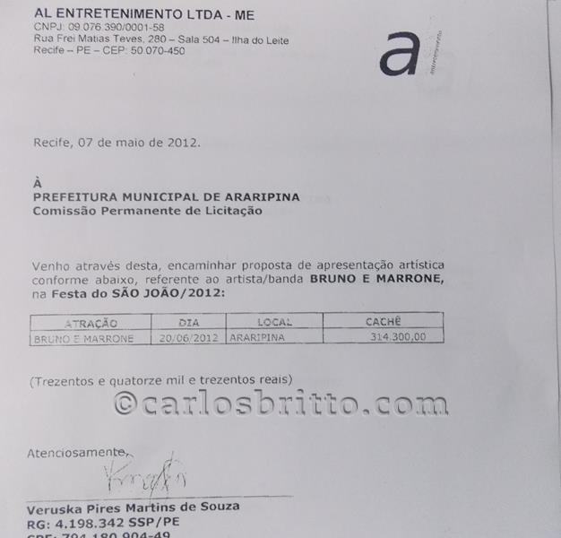 contratação bruno e marrone em Araripina