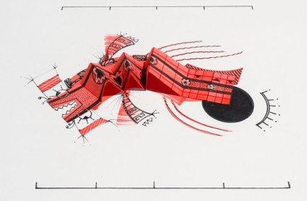 Tinta, marcador, corrector y papel sobre papel. 21 cm. x 29 cm. 2013