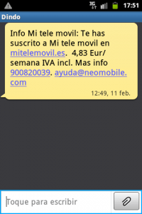 Suscripcion Mitelemovil en Pagos Movistar