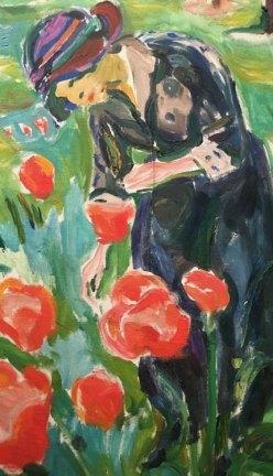 Edvard Munch. Cogiendo Flores