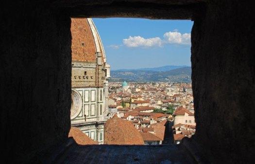 Il Duomo y Florencia desde las escaleras del Campanario