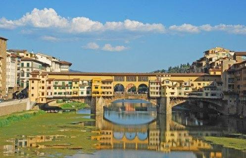 Río Arno y Ponte Vecchio
