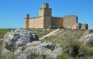 Vista del castillo de Barcience