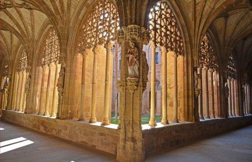 Claustro gótico del Monasterio de Santa María la Real de Nájera
