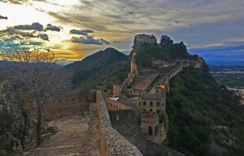Castillo Mayor al atardecer