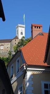 Liubliana. Casas y Castillo