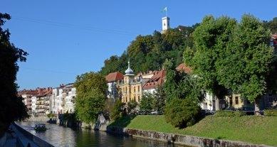 Liubliana. Río Liublianica, Barrio Medieval y Castillo