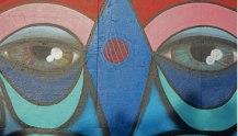 Barrio de Gabut. Grafiti. Ojos