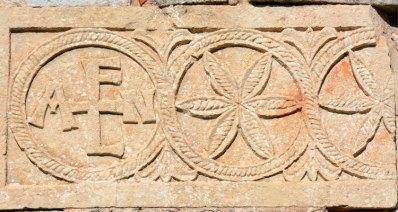 Crismón en el Friso de la Ermita de Santa María. Quintanilla de las Viñas