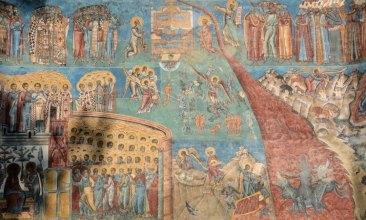 Monasterio de Voronet. Fresco del Juicio Final
