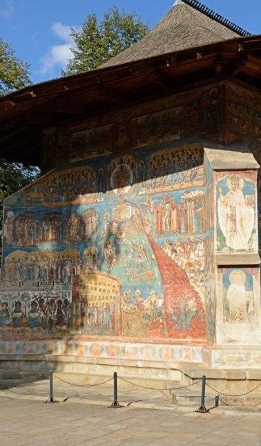Monasterio de Voronet. Portada del Juicio Final