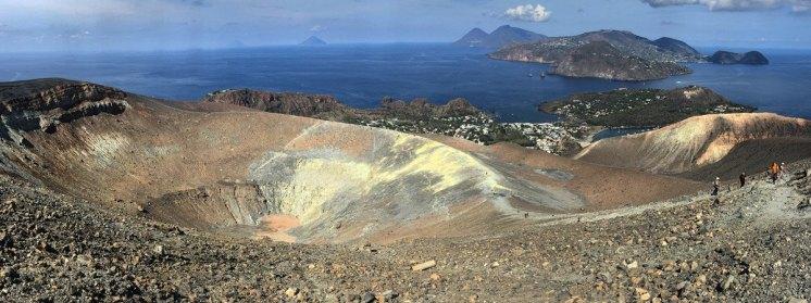 Vistas desde la cumbre (Isla de Vulcano)