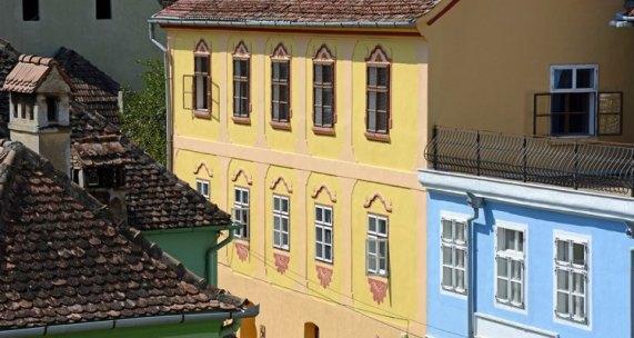 Siguisoara. Edificios Calle Turnului