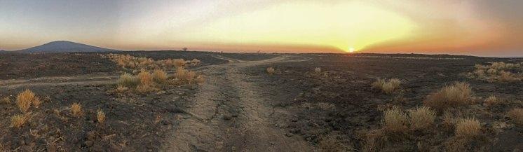 Atardecer en el desierto de Danakil