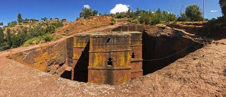 El Templo de San Jorge es el único que no ha quedado cubierto por estructuras protectoras