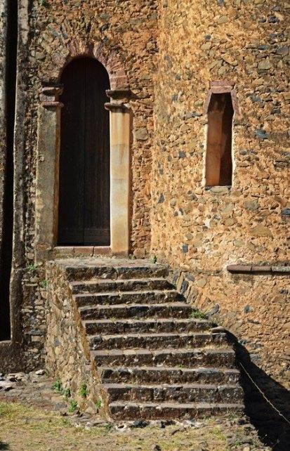 Escaleras en el castillo de Fasilidas