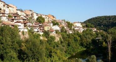 Casas sobre el Río Yantra