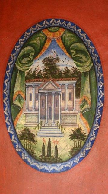 Koprivshtitsa. Casa Oslekov. Pintura en Salón Rojo