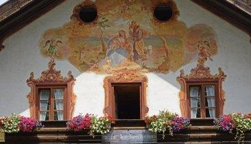 Oberammergau. Casa de Pastores. Balcón y Pintura