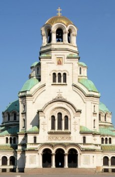 Sofía. Portada de la Catedral de Alexander Nevski