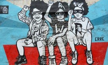 Barrio de Getsemaní. Street Art. Bad Boys