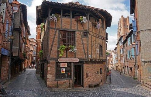 Casas de ladrillo rojo del Vieux Albi