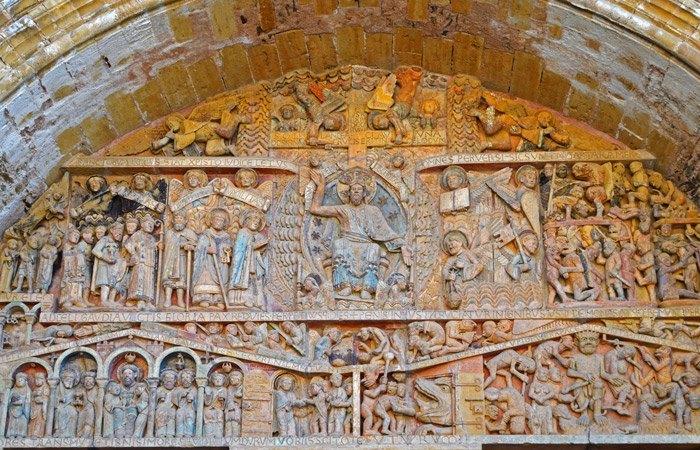 Tímpano del Juicio Final - Portada Iglesia Abacial Sainte-Foy (Conques)