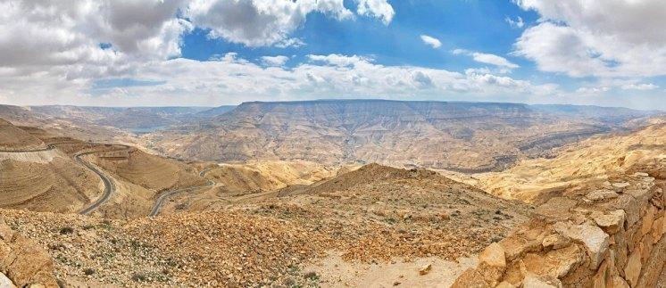 """Paisaje de Wadi Mujib - El """"Gran Cañón"""" Jordano"""