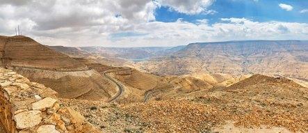 Wadi Mujib hacia el este
