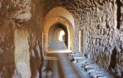 Túneles en el castillo de Al-Kerak