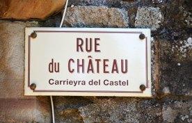 Letreros en francés y occitano