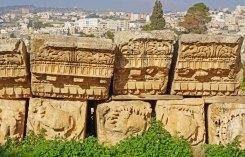 Cornisas del Templo de Zeus (Jerash)