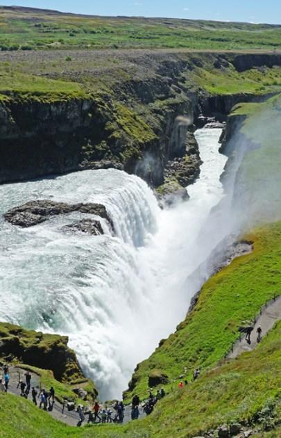 El segundo salto en Gullfoss y el cañón.