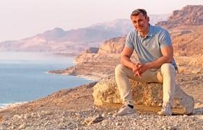 CarlosdeViaje en el Mar Muerto (Jordania)